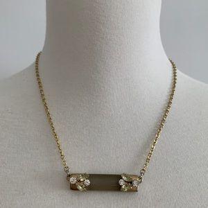 LOFT gold bar necklace